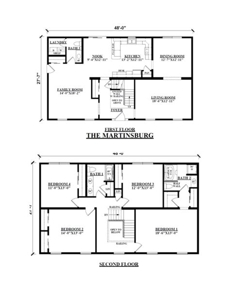 100 two story floor plans two story modular homes