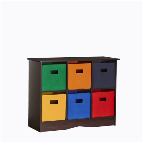 Childrens Storage Cupboards - riverridge 6 bin storage cabinet espresso primary
