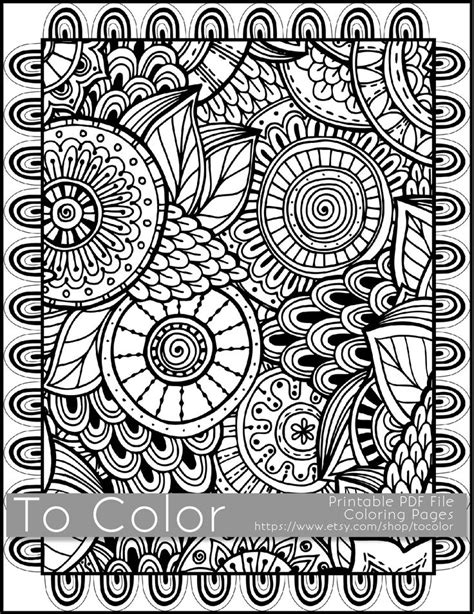 Lukisan Doodle A4 Colour Tidak Background Frame 60 best disfrutes handmade jewelry coloring pages and more images on