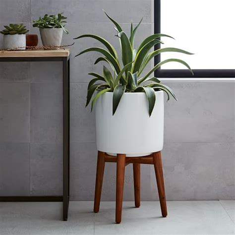 West Elm Wall Planter by Mid Century Turned Leg Standing Planters Solid West Elm