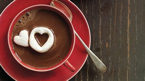 hot chocolate  marshmallow hearts