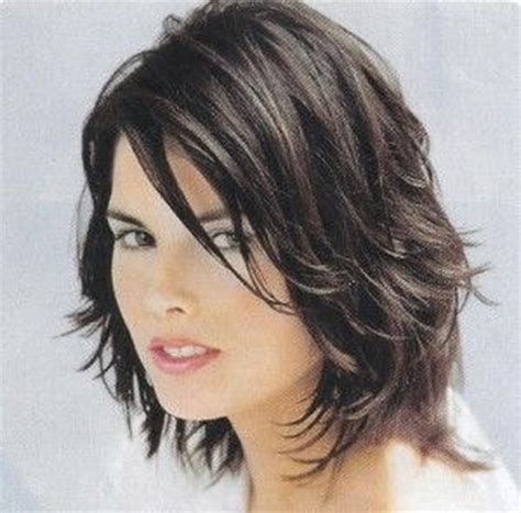 brunette womens shaggy layered short haircuts sassy medium hairstyles