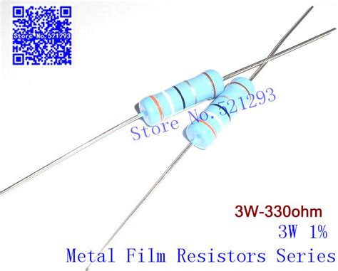 color bands for 330 ohm resistor 3w metal resistors 330 ohm 1 3w 330r color ring resistance 20pieces in resistors