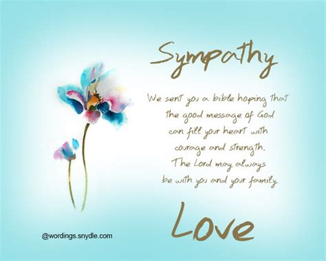 Religious Sympathy Card Messages