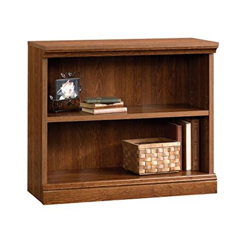 sauder camden county 2 shelf bookcase planked cherry best