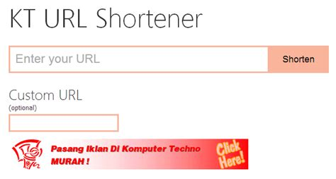 html pattern for url script url shortener gratis tutorial pemasangan