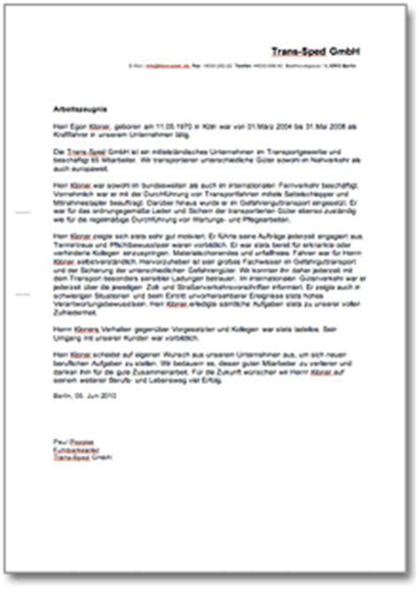 Musterbriefe Rechtsanwaltsfachangestellte Dienstzeugnis Quot Befriedigend Quot Berufskraftfahrer Vorlage Zum