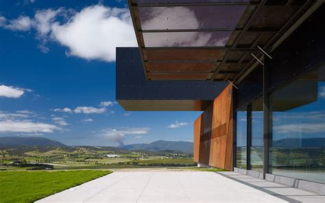 View Of House by View Hill House Vineyard Yarra Valley Australia Denton