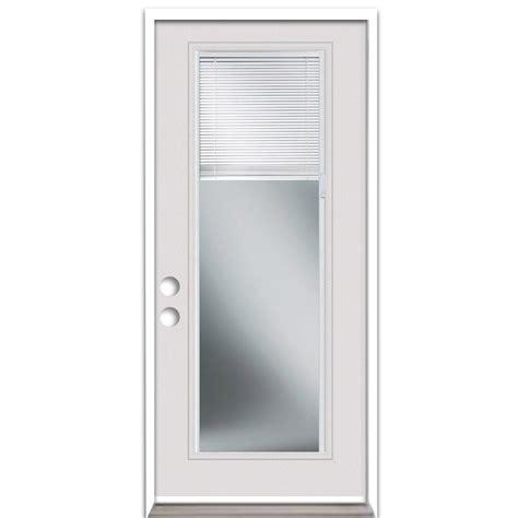 Exterior Door Blinds Shop Reliabilt Blinds Between The Glass Lite Prehung Inswing Steel Entry Door Common 32