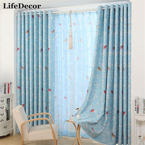 small sheer curtains hot sale modern small floral curtains for window curtain