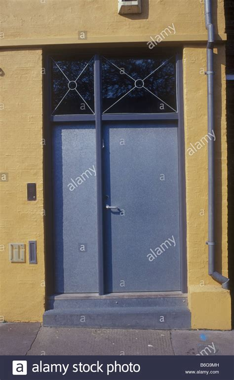 Steel Front Doors Uk Holborn Uk Modern Contemporary Style Metal Front Door To Stock Photo Royalty Free