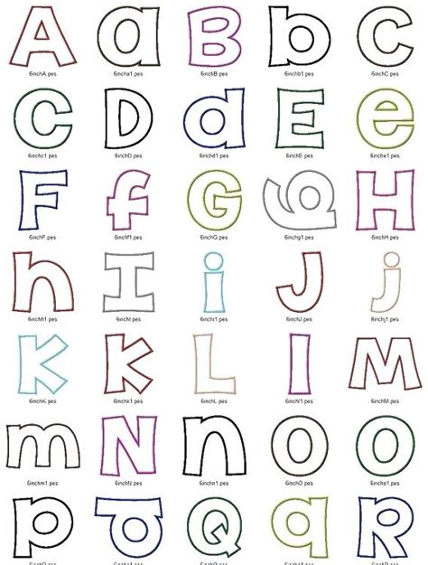 Fabric Applique Letters by Applique Letters Citybirds Club