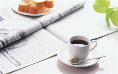 press on wallpaper morning coffee newspaper wallpaper 1920x1200 46677