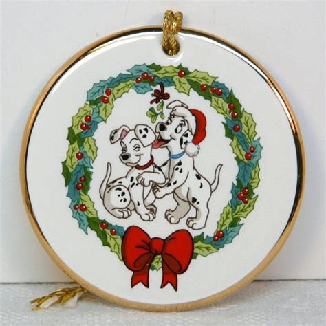 disney grolier christmas ornament porcelain disk
