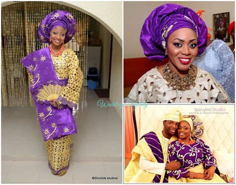 nigerian traditional wedding attires beautiful asoeke wears of the yoruba people in nigeria