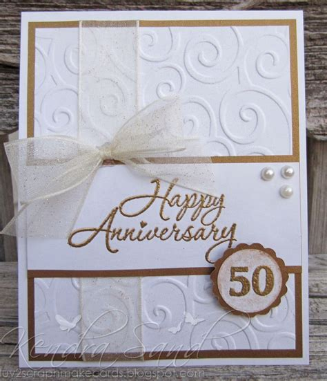 Handmade 50th Anniversary Gifts - 25 unique 50th anniversary cards ideas on
