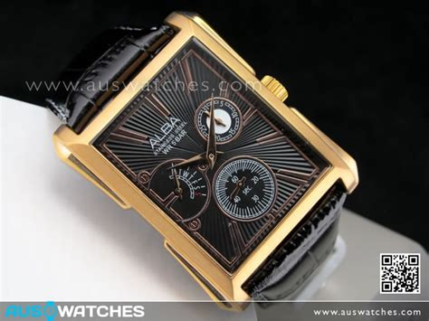 Alba An 4034 35 Leather buy seiko alba chronograph leather aq7032x1 gold