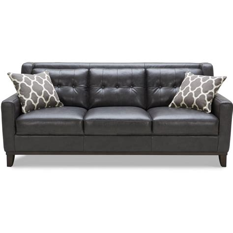 rc willey leather sofas contemporary charcoal leather sofa nigel rc willey