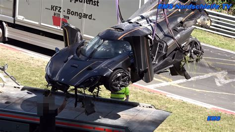 koenigsegg one 1 crash koenigsegg one 1 crashes on the ring sssupersports com