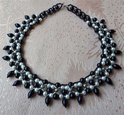 black necklace pattern free pattern for necklace black goddess beads magic