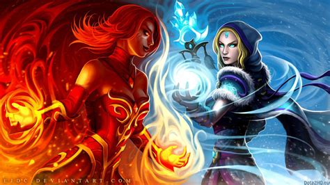 dota 2 rylai wallpaper dota 2 lina vs crystal maiden dota 2 wallpapers