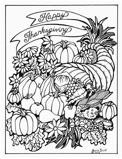 thanksgiving coloring pages  adults coloring home