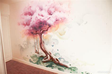 Délicieux Photo De Peinture De Chambre #4: Decor-fresque-arbre-cerisier-japonais.jpg
