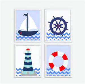 Nursery Room Decor Items Similar To Printable Ships Wheel Sailboat Lighthouse Instant Nautical