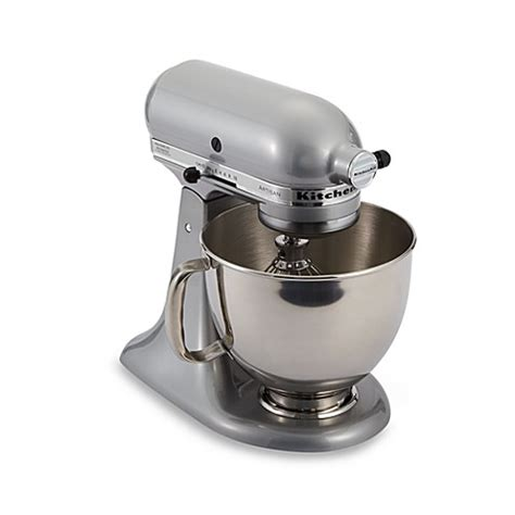 bed bath and beyond kitchenaid mixer buy kitchenaid 174 artisan 174 5 qt stand mixer in metallic