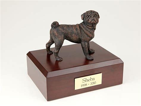 pug urn pug bronze figurine urn memorial urns