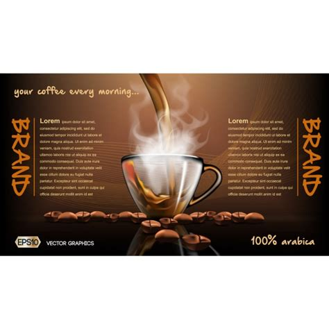 Coffee Brochure Template Vector Free Download Free Coffee Website Templates