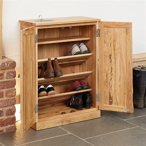 shoe and boot cabinet store solid oak shoe storage cupboard mobel