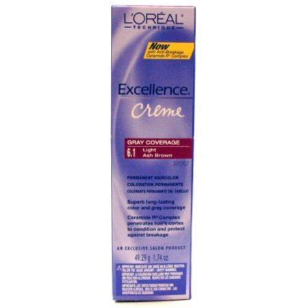 l oreal excellence creme permanent hair color ash 7 1 1 74 oz walmart l oreal excellence creme permanent hair color light ash brown 6 1 1 74 oz walmart