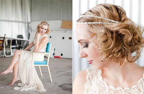 1920 bridal hair styles 1920 s inspired bridal style with sheath wedding dress