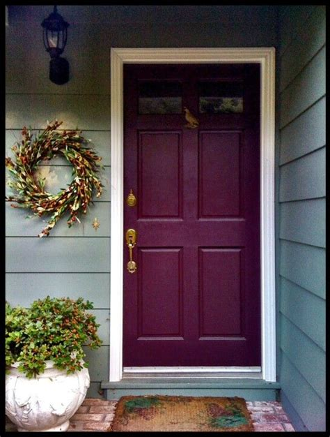 Different Front Doors Door Painted A Different Color And Wreath Beside It For The Home Colored Front