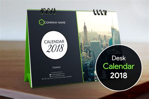 Calendar Designs Templates by Desk Calendar 2018 Template Stationery Templates