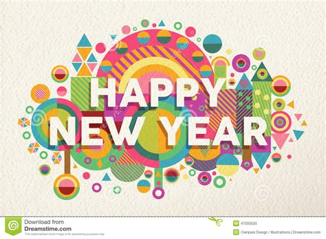 new year illustration happy new year 2015 quote illustration poster stock vector