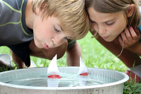 to make with toddlers easy craft for wax boats housing a forest