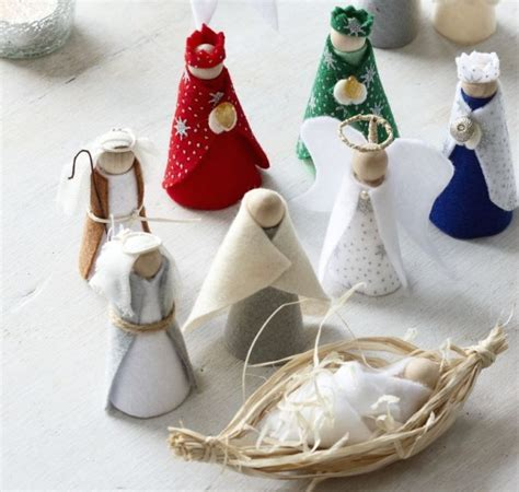 Handmade Nativity - how to make a nativity craft ideas for