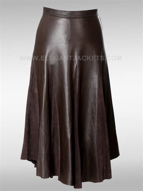 brown leather skirt dress