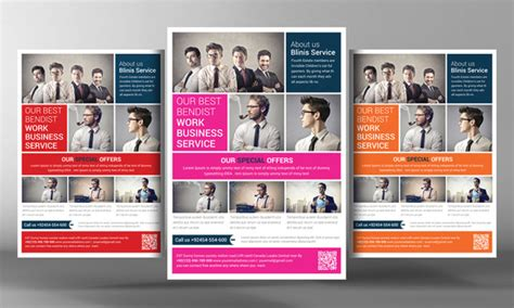 Beautiful Color Schemes 20 Cool Business Flyers Templates