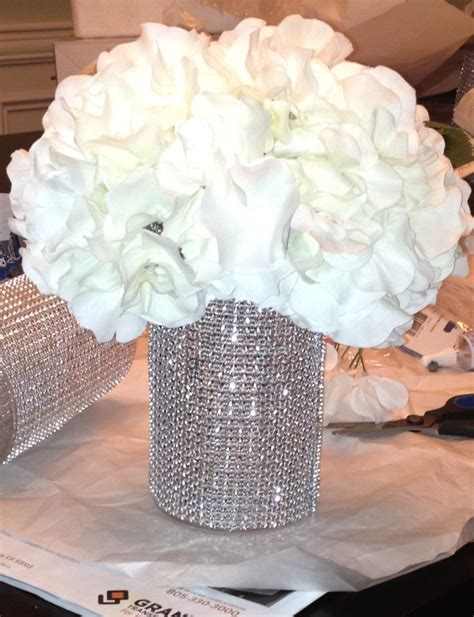 Handmade Wedding Centerpieces - diy bling wedding centerpiece princess wedding
