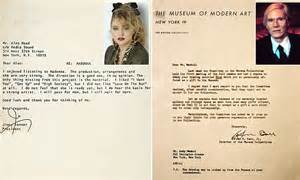 Rejection Letter Daily Mail Madonna Andy Warhol And Other A List Rejection Letters