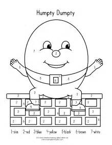 humpty dumpty sat on a wall coloring page