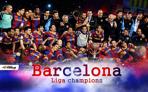 barcelona la liga winner of la liga 2010 11 fc barcelona wallpaper