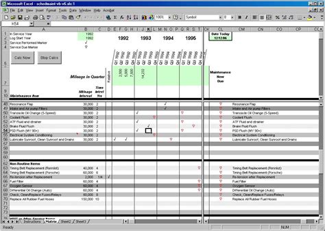 Building Maintenance Schedule Excel Template Filename El Parga Building Maintenance Schedule Excel Template