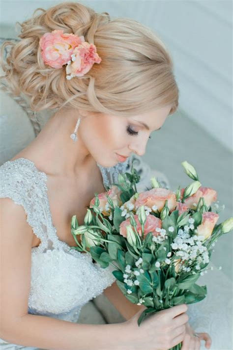 Wedding Hair Updo With Flower by Wedding Hairstyle For Medium Hair