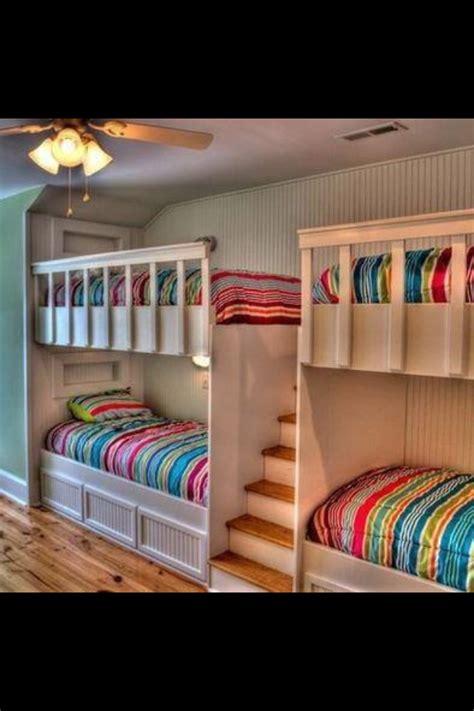 quad built  bunk beds  shelfs built  bunks bunk