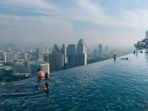 Shanghai Infinity Pool Marina Bay Sands Hotel Singapore
