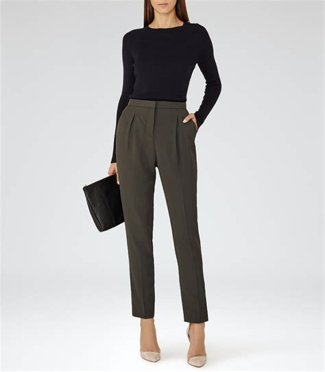 Tailored Trouser diego trouser forest tapered tailored trousers reiss